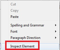 How to inspect an element in Safari