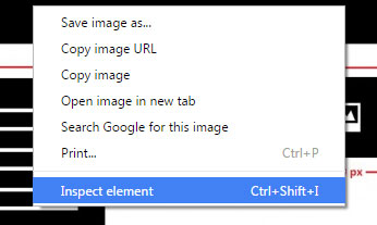 right click your web page and inspect element in chrome